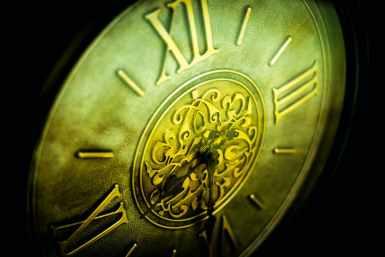 close up view clock